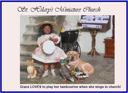 Grace LOVES to play her tambourine when she sings in church!