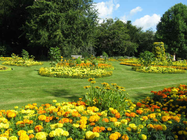 Jephson Gardens in Leamington Spa during July 2009.